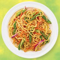Ginger, Sesame, Asparagus, & Lo Mein Salad. Must try this!
