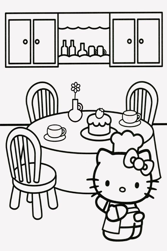 14 Hello Kitty House Coloring Pages Hello Kitty House Hello Kitty Printables Kitty Coloring