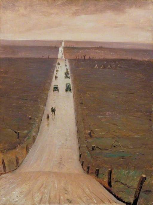 Christopher Nevinson - The Road from Arras to Bapaume, 1917