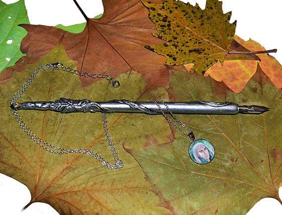 Necklace and elven dip pen  Mirkwood king Thranduil by JankaLart