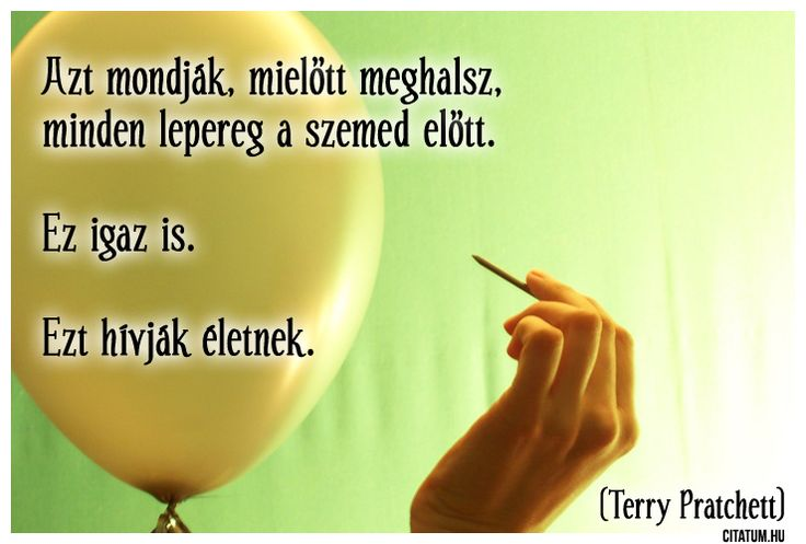 Terry Pratchett idézete az életről.