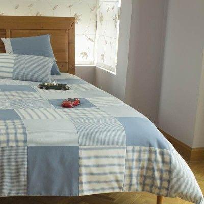 Funda nordica o edredon ajustable en patchwork para habitacion juvenil