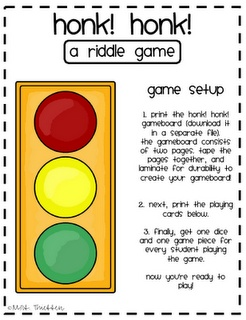 Reading riddle game
