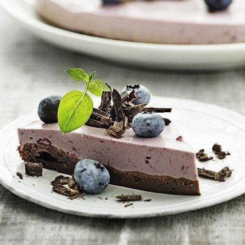 Brownie med frugtfromage