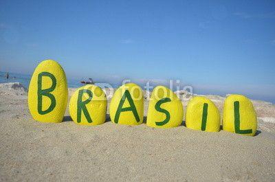 Brasil, souvenir on yellow stones