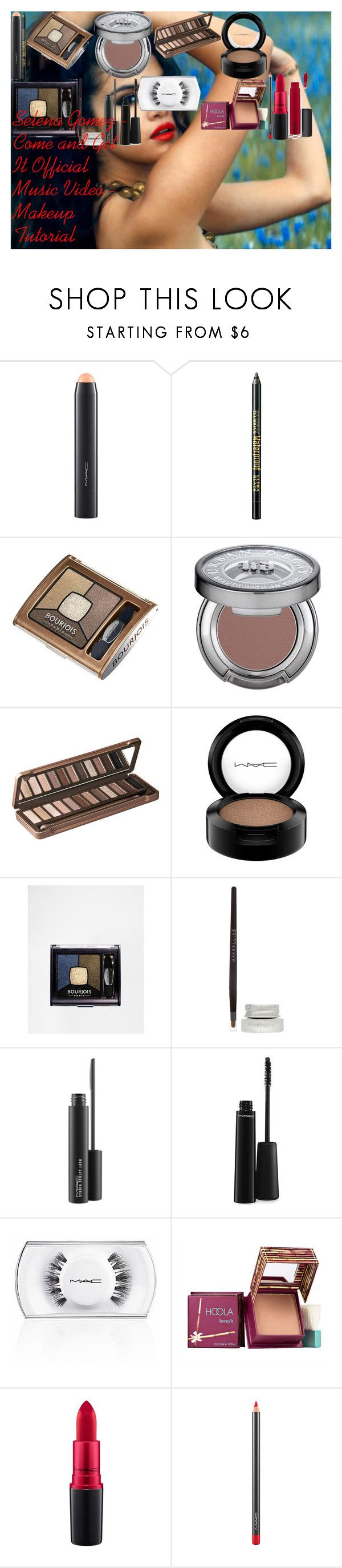 Selena Gomez - Come and Get It Official Music Video - Makeup Tutorial by oroartye-1 on Polyvore featuring beauty, Urban Decay, Hoola, MAC Cosmetics, Maybelline and Bourjois