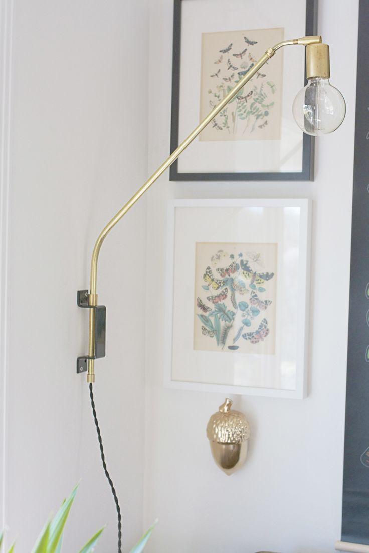 brass lamp DIY