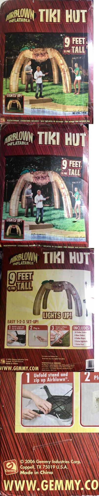 Inflatables 177759: Rare Huge 9 Tall Airblown Inflatable Tiki Hut Gazebo Luau -> BUY IT NOW ONLY: $160 on eBay!