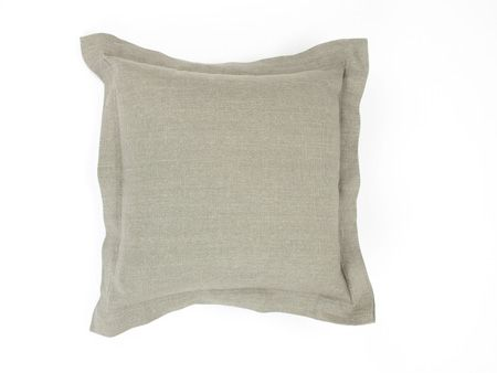 Double Border Linen Cushion (Large) | Nuttall