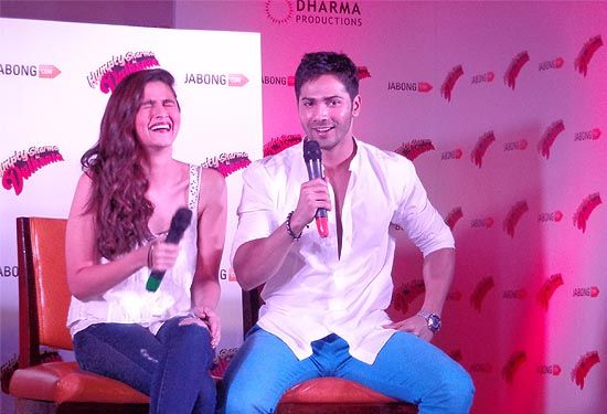 Jabong.com, India's leading online fashion destination unveiled an exclusive collection on the lines of an upcoming film 'Humpty Sharma Ki Dulhania' starring, Varun Dhawan and Alia Bhatt at Crown Plaza, Okhla, Delhi.