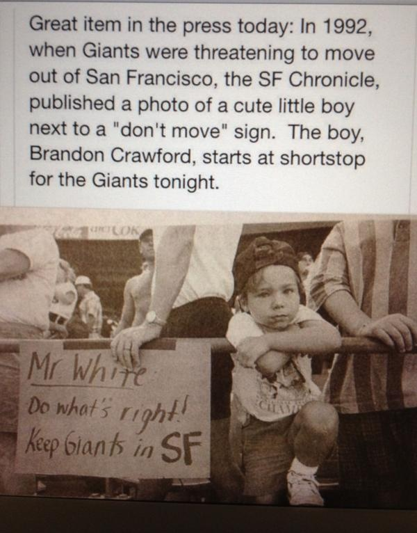 Giants' Brandon Crawford 5-Year Old Self Featured in Coolest World Series Story   Bleacher Report