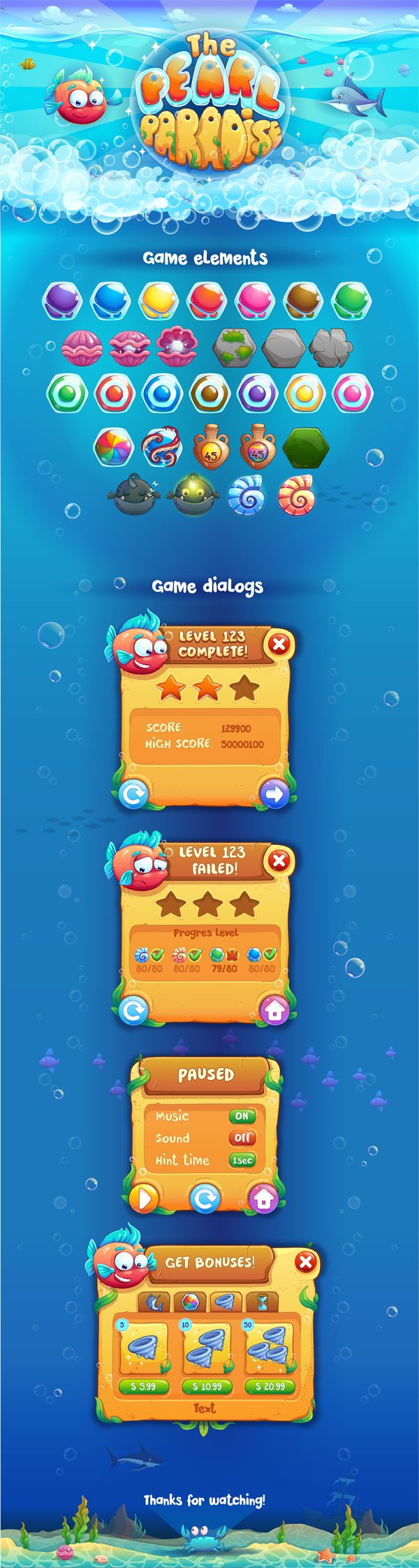 Match-3 game for IOS