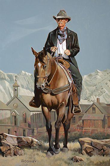 Preacher Man by Bill Moomey Oil ~ 48 x 35