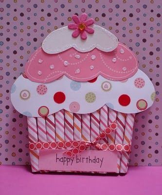 iris folded cupcake card | stitching card patterns cards iris folding papers and iris folding ...