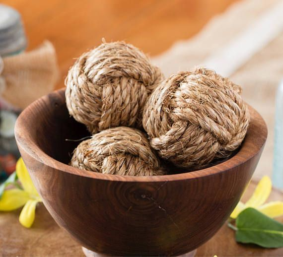 Decorative Rope Balls Endearing Nautical Monkey Fist Rope Knots 3 Decorative Knot Balls  Hpkw Inspiration