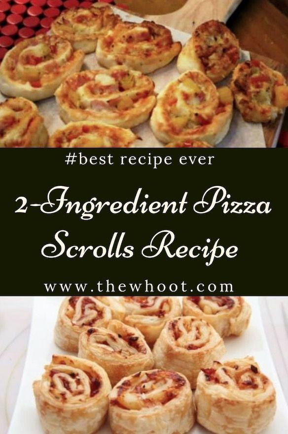 2 Zutaten Pizzateig Scrolls Video Tutorial