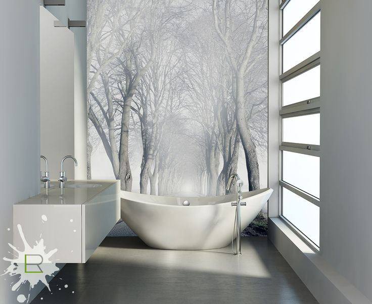 Fototapeta w łazience - las we mgle