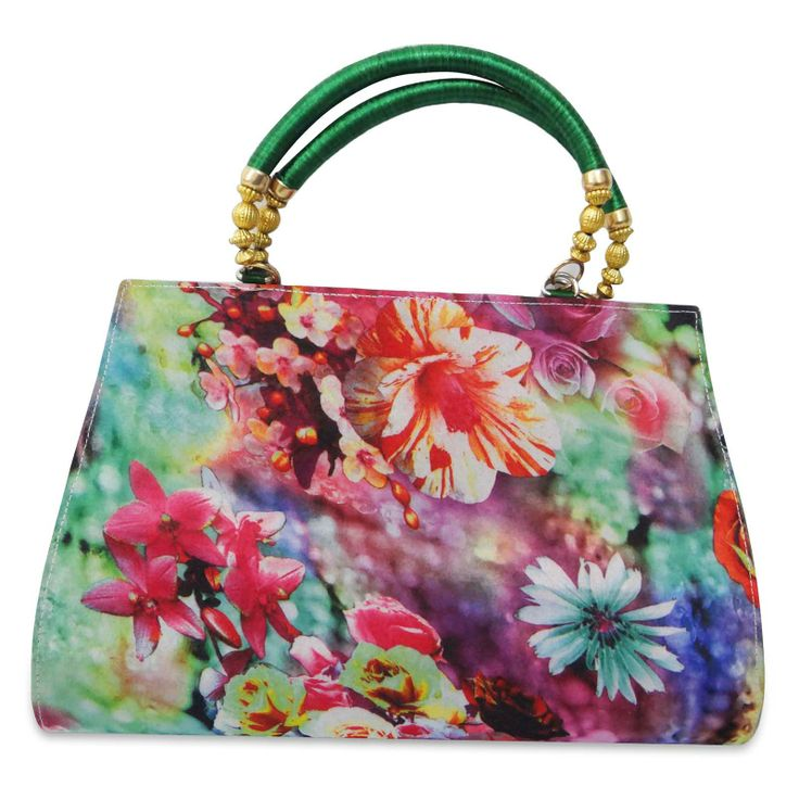 Beautiful Georgette chiffon fabric woman clutch purse /handbag. ..this is img