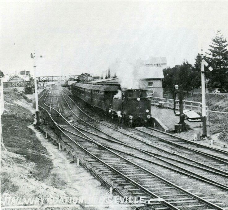 Hurstville Railway Station in the southern suburbs of Sydney in 1910s.