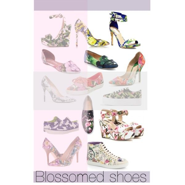 """Blossomed shoes"" by lelouka on Polyvore"
