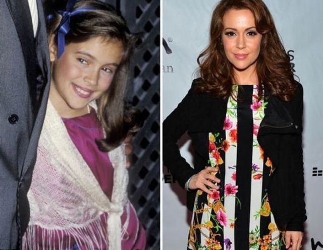 Celebs Who Have Aged a Bit Since They Started Out --- Alyssa Milano: 1984 ... and now