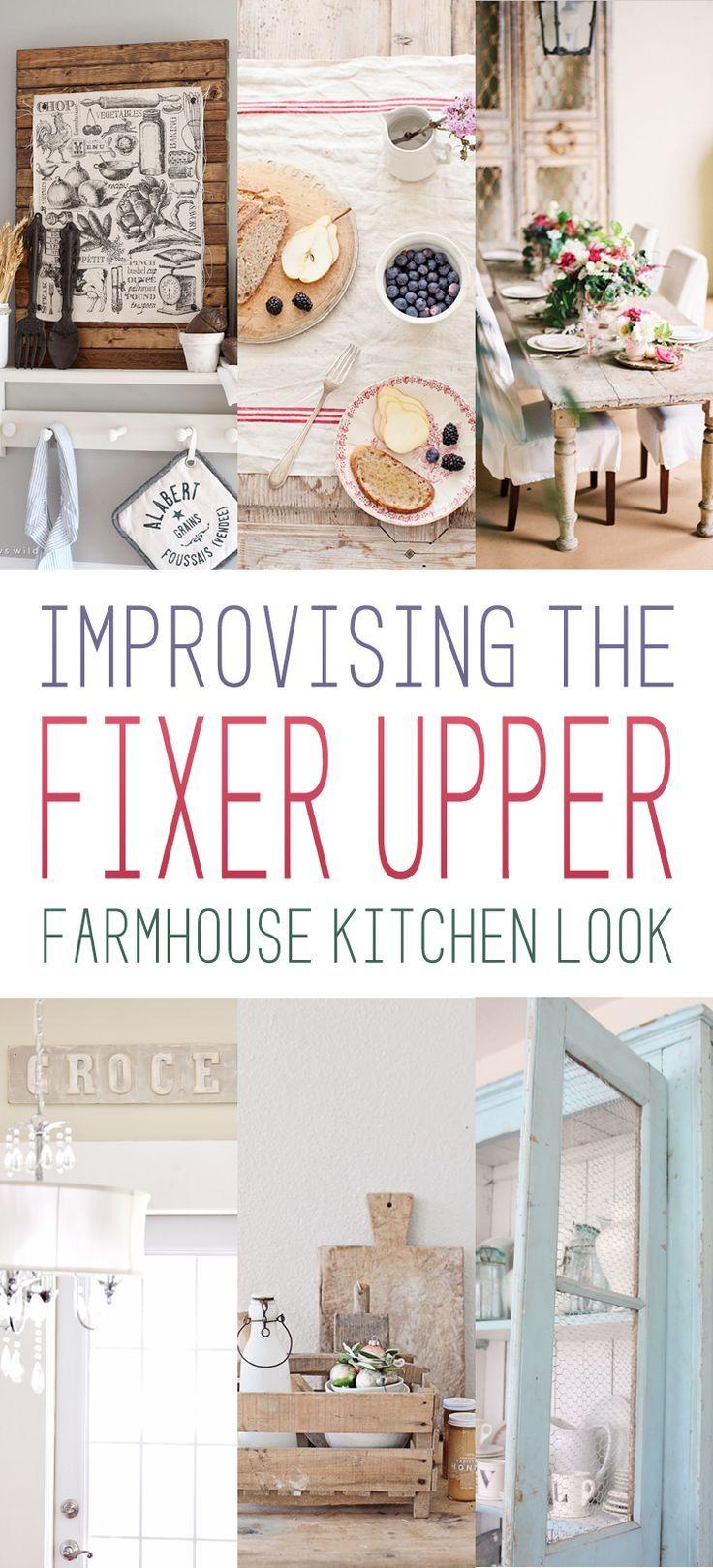 the fixer upper farmhouse kitchen look farm house pinterest bauernk chen landh user und. Black Bedroom Furniture Sets. Home Design Ideas