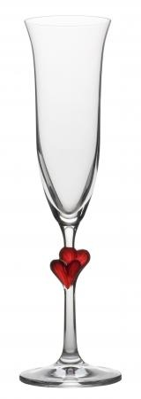 Sektkelch mit zwei roten Herzen von Stölzle Lausitz - Ein ideales #Geschenk für Verliebte!