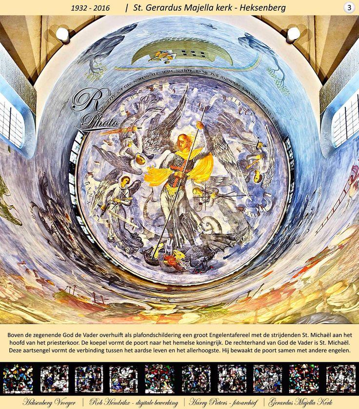 Plafondschildering van Charles Eyck in de Gerardus-Majellakerk op de Heksenberg