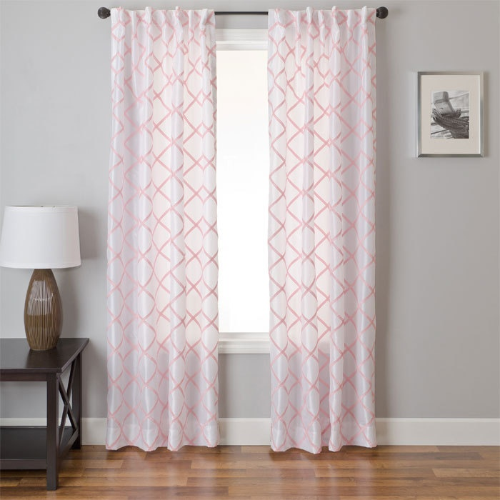 Soft Pink Curtains For A Nursery But They Let In So Much Light