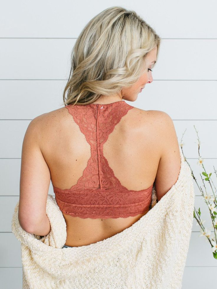 Maxine Padded Bralette - Burnt Peach