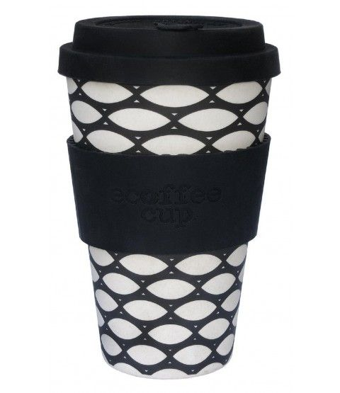 "BambooCUP Coffee To Go Becher ""Basket Case"" Kaffeebecher Bambus Reisebecher Deckel  - 2-flowerpower"