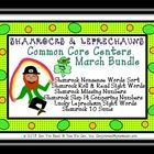 http://www.teacherspayteachers.com/Product/Shamrocks-and-Leprechauns-Common-Core-Centers-March-Bundle-535480 This St.Patrick's Day themed kit contains 115 pages of center games and standards. There are 6 different shamrock and leprechaun games that align t...