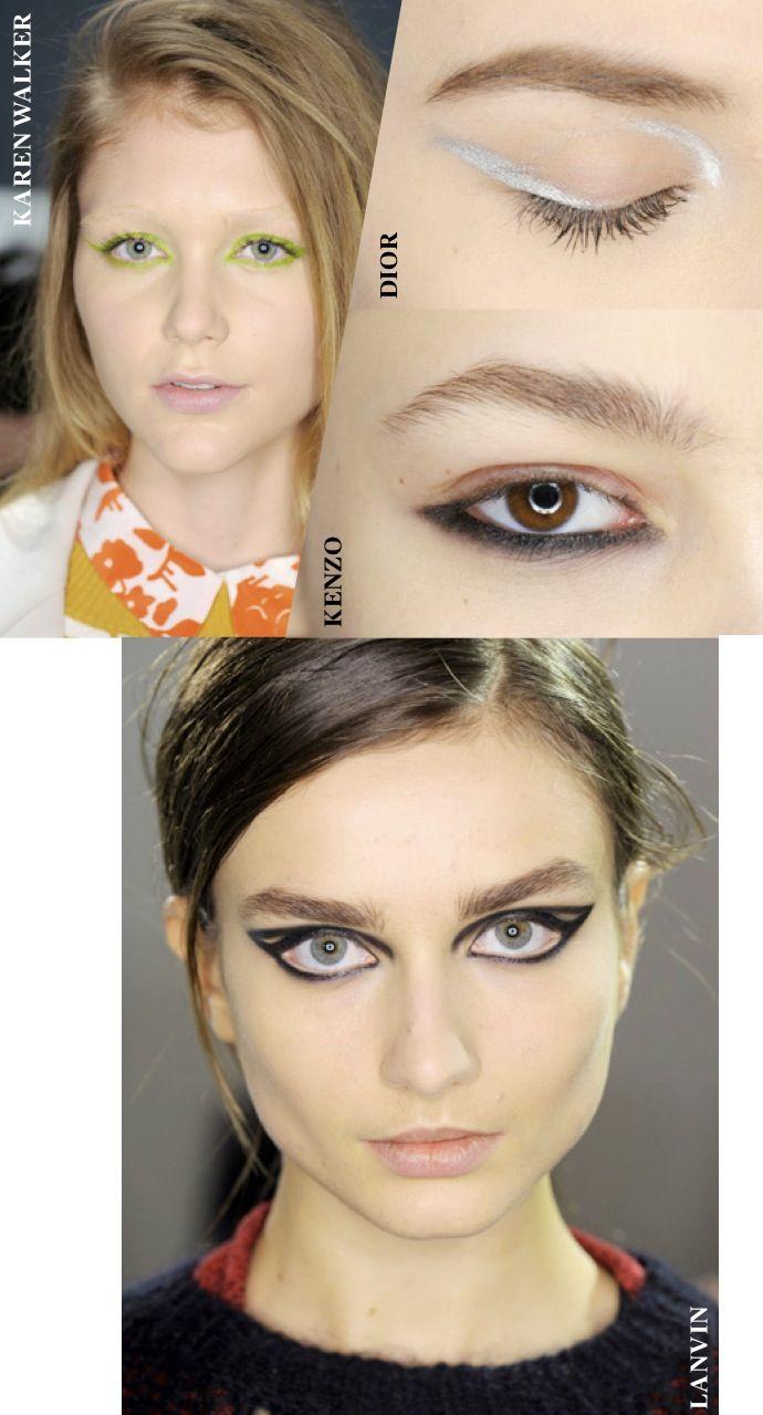 siz de 60'lar ruhunu 2000'li yıllarda yansıtmak için, bu kış altın çağını yaşayan eyeliner'larla, göz kapaklarınıza kalın kuyruklu siyah çizgiler çekebilirsiniz ;) @Vogue Türkiye  #KASABAsosyalmedyada #simdimodaKASABA