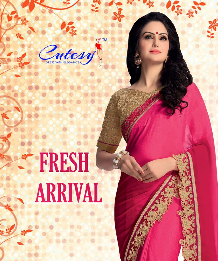 Buy latest and trendy sarees at https://goo.gl/bsrUCc  #sarees #ethnicwear #onlineshopping #latestsarees #newarrival #cutesy #tryfa
