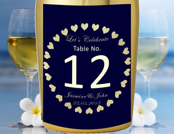 Check out this item in my Etsy shop https://www.etsy.com/listing/288633155/wedding-champagne-label-table-number