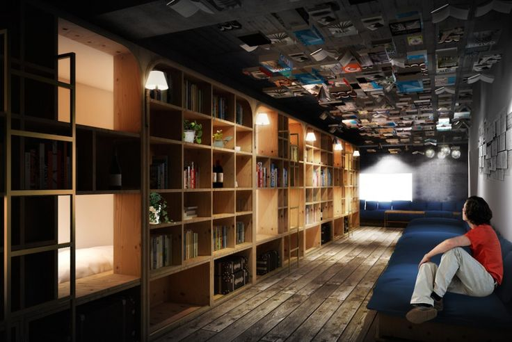 Book and Bed Tokyo is a hostel that doubles as a book store for well-read travelers looking for a place to spend the night in Japan's capital