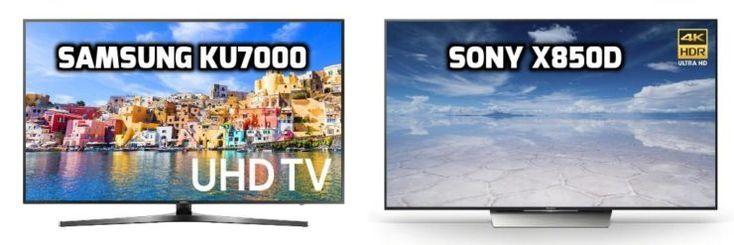 Samsung KU7000 vs Sony X850D