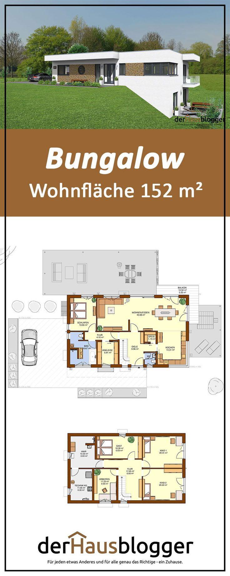 Bungalow 152m² in 2020 Bungalow mit keller, Bungalow und