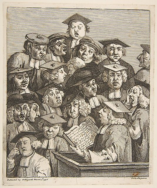 Scholars at a Lecture William Hogarth (British, London 1697–1764 London) Date: 1736