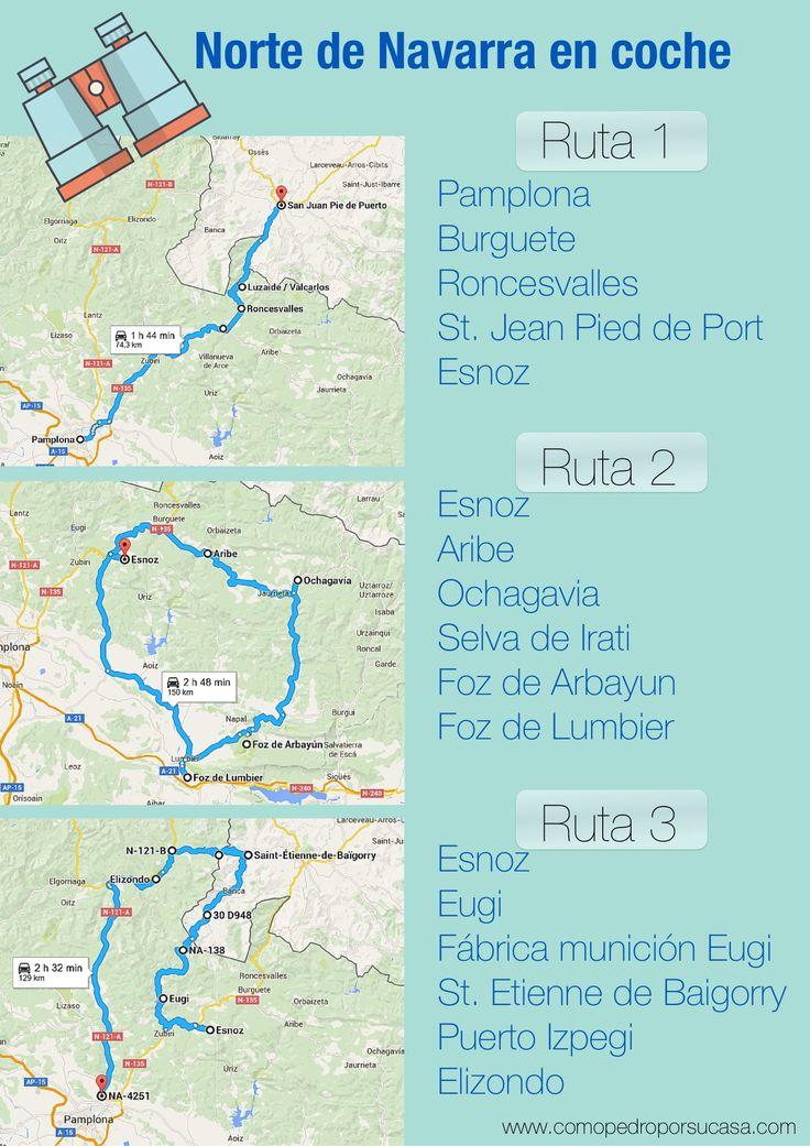 Ver Norte de Navarra. Rutas en coche para visitar en 3 días. Travel Around The World, Around The Worlds, Pamplona, Travel Tips, Spain, Places To Visit, Road Trips, Portugal, Camping