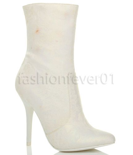 WOMENS-LADIES-HIGH-HEEL-POINTED-ROSE-GEM-ZIP-WEDDING-ANKLE-BOOTS-SIZE