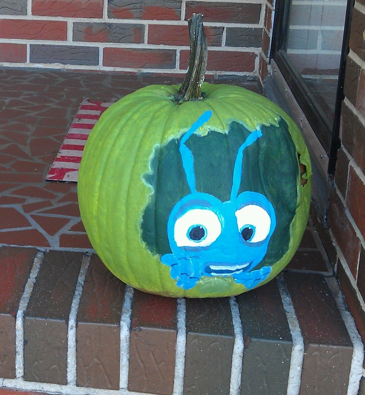 Victoria's A Bug's Life Painted Pumkin....she may have to redo a little
