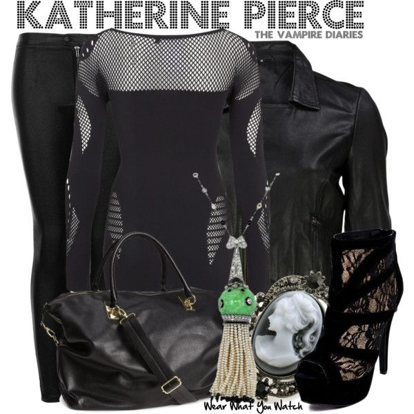 Inspired by Nina Dobrev as Katherine Pierce on The Vampire Diaries.