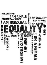 Overall, we're all equal. We're all humans and we should all be respected equally no matter what. So appearance is nothing compared to reality.