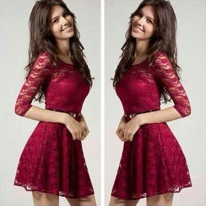 Pretty red lace dress