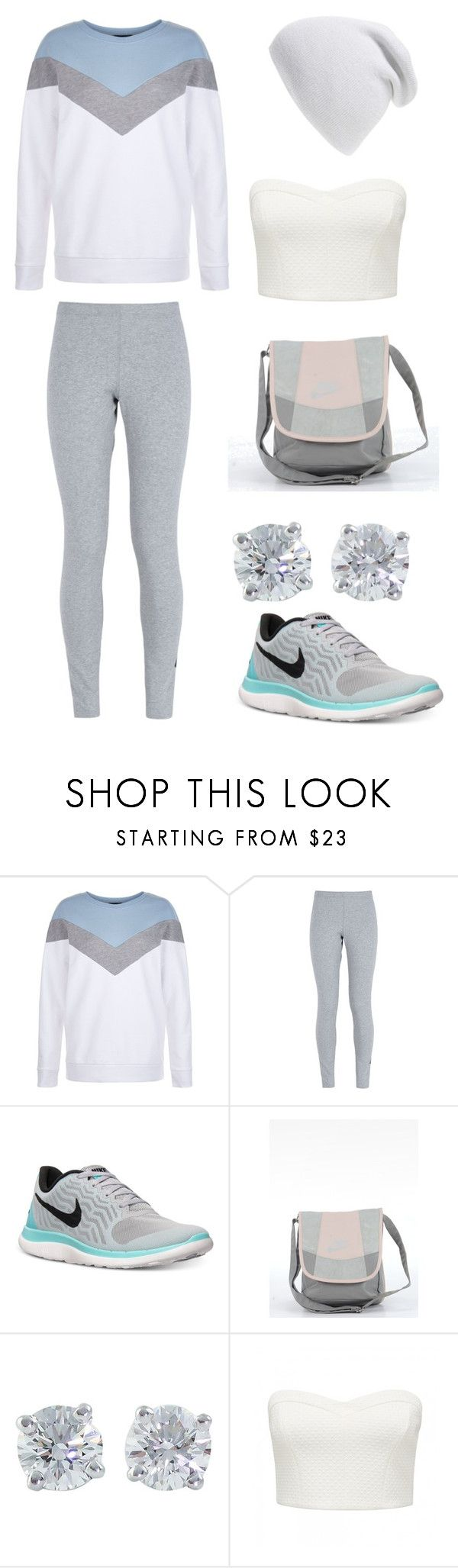 """Active Pastel"" by alphashe on Polyvore featuring New Look, NIKE, Tiffany & Co., Forever New and Phase 3"