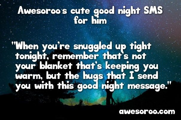 cute SMS night message for a man-