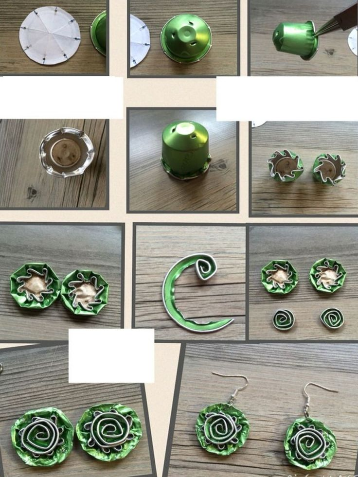 cvijeće sa zelenim kava kapsule III