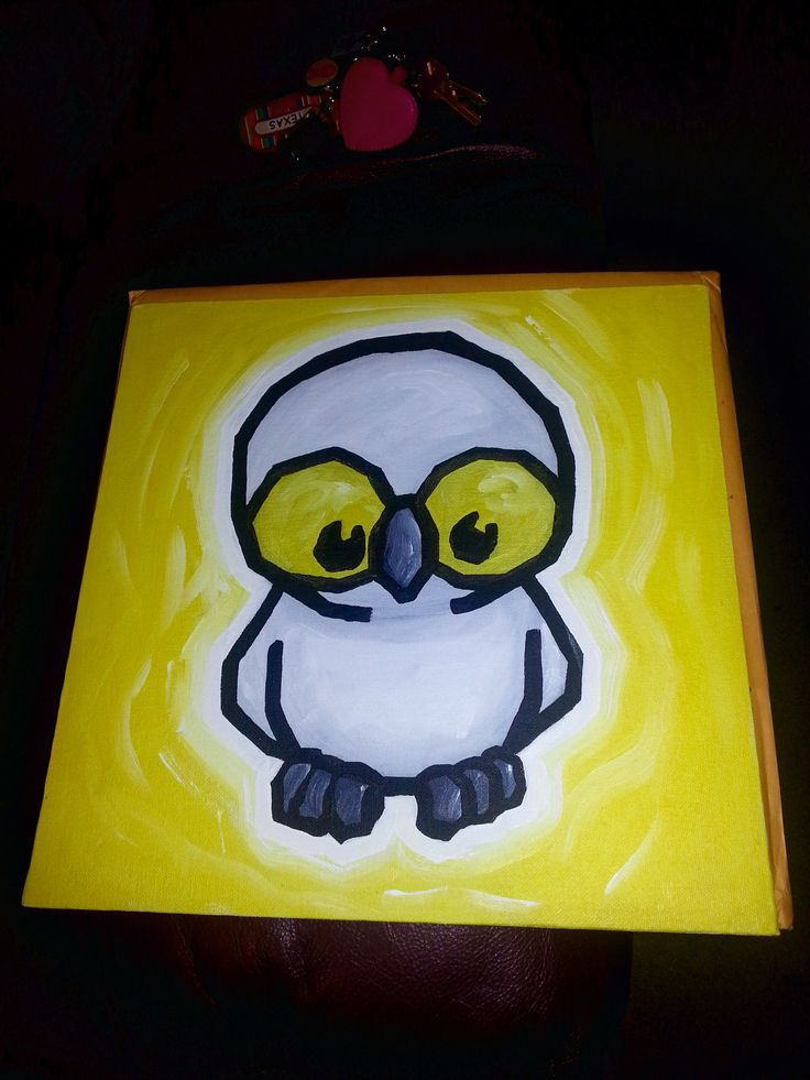 My free owl painting from Artist Ali Spagnola