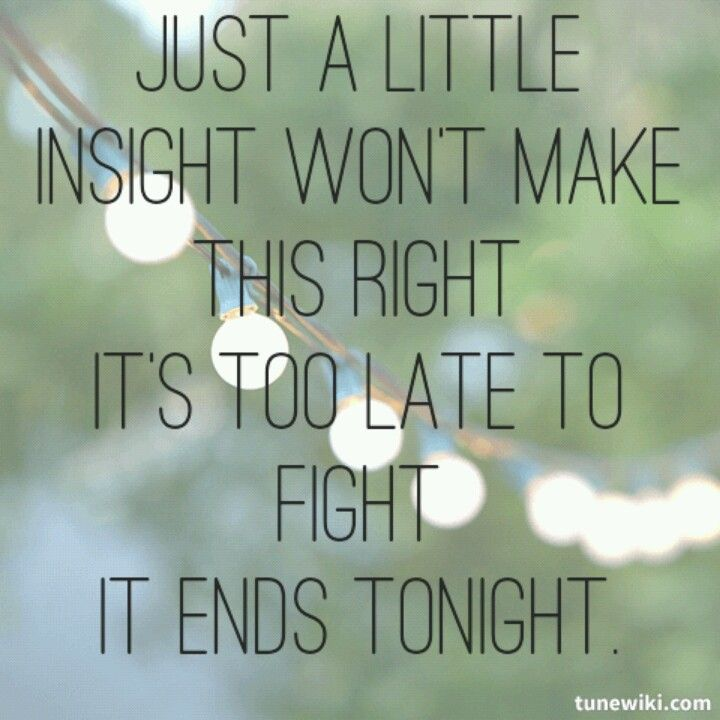end tonight lyrics: